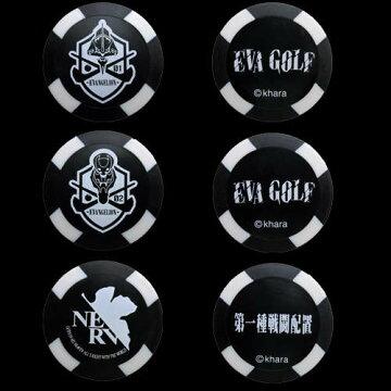 EVAGOLFエヴァゴルフエヴァンゲリオンチップマーカーコインマーカー3枚セット