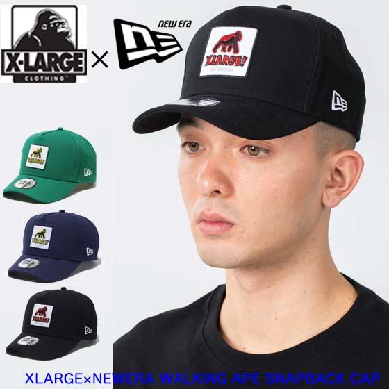 メンズ帽子, キャップ XLARGE XLARGENEWERA WALKING APE SNAPBACK CAP 101211051011