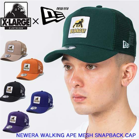 メンズ帽子, キャップ XLARGE NEWERA WALKING APE MESH SNAPBACK CAP 101212051011