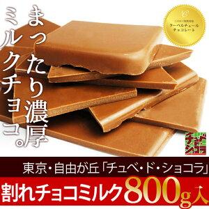 チュベ・ド・ショコラの割れチョコミルク 800g