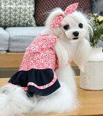 ◆メール便送料無料◆【ドッグウェア】【犬の服】和小花柄ワンピース
