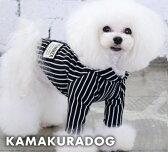 ◆メール便送料無料◆【ドッグウェア】【犬 服】ストライプフードシャツ