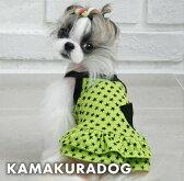 ◆メール便送料無料◆【ドッグウェア】【犬の服】スター★グリーンワンピース
