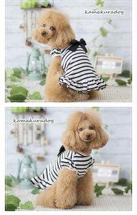 【犬服】リボンパフワンピ