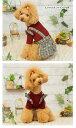 【犬の服】ニット&グレンチェックスカート 2