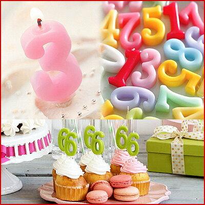誕生日会等のお祝いケーキに!数字キャンドル