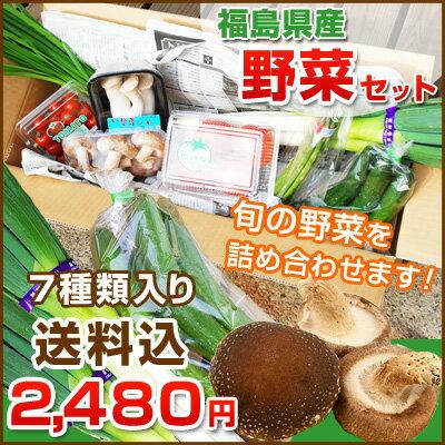 福島県産の野菜を応援して下さい!◆旬の野菜をお任せで7種類お届け 送料無料 ※出荷制限・摂取制限の無い野菜をお入れします。※店側でクーポンの後付けは出来ませんので、ご使用忘れにご注意ください。