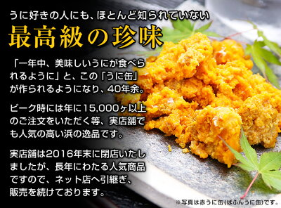 むらさきうにのうに缶詰1ケ(100g)
