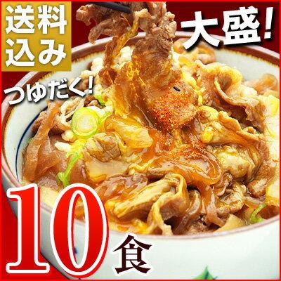 大盛りつゆだく!日東ベストの牛丼DX【185g×10パック】送料込み