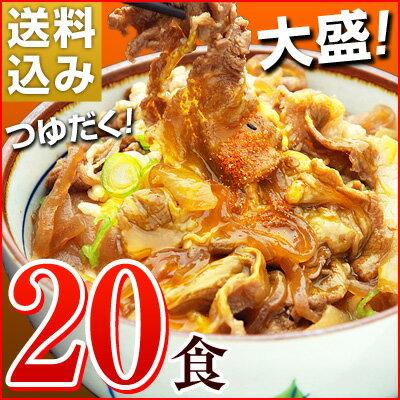 大盛りつゆだく!日東ベストの牛丼DX【185g×20パック】送料込み