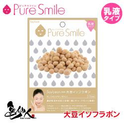 Pure Smile エッセンスマスク乳液タイプ 大豆イソフラボン 【ピュアスマイル フェイスマスク 1枚】