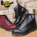 送料無料 ドクターマーチン 靴 101 Dr.Martens 6EYE BOOT ブーツ メンズ レディース 6ホールブーツ ユニセックス 10064001(BLACK) 10064600(CHERRY RED)