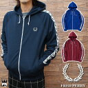 フレッドペリー FRED PERRY 送料無料 メンズ ジャージ スポーツウェア アパレル J9520 Taped Hooded Track Jacket テープ フード トラックジャケット 月桂樹 カジュアル ジャケット evid