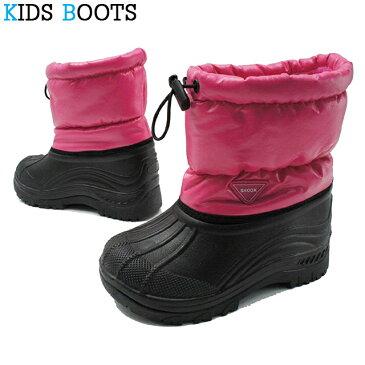 キッズ スノーブーツ スノーシューズ 9153 ブーツ 長靴 雪靴 防寒 防水 絞りヒモ ジュニア 子供靴 おしゃれ 男の子 女の子 男子 女子 通学 小学生 寒さ対策 雪遊び アウトドア 雨 雪 冬 シンプル かっこいい かわいい evid