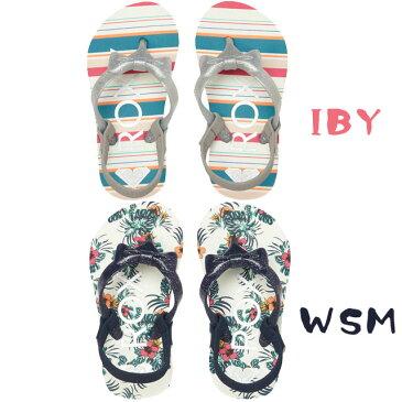 ロキシー 女の子 子供靴 キッズ ベビー サンダル TW FIFI II ビーチサンダル ビーサン トングサンダル ローヒール ラメ リボン AROL100003 ROXY evid |1