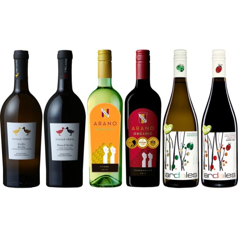 【送料無料】亀田屋ソムリエ厳選 有機農法で造られた 厳選オーガニックワイン 6本セット 2020 ワインセット ハイコスパ 自然派 オーガニック認証