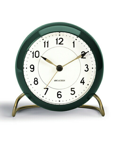 ARNE JACOBSEN TableClock STATION グリーン アルネヤコブセン 置き時計 テーブルクロック ステーション 現代仕様 モディファイ LEDライト ムーブメントセンサー スヌーズ機能 単3電池 アラーム プロダクト シンプル モダニズム 北欧 ギフト ヤコブセン