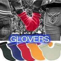 GLOVERS グラヴァーズ 手袋 大好きな人と手をつなぐための手袋!グラバーズ 手ぶくろ グラバアーズ 二人用手袋 あいあい手袋 あのTVで人気の天才チンパンジーも着用!