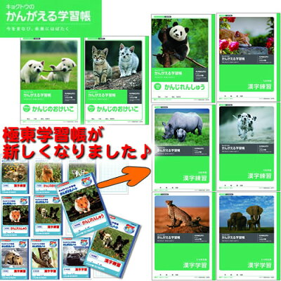 デザイン一新♪キョクトウの学習帳「かんがえるノート」漢字練習(かんじのおけいこ)(L411〜417)
