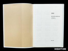 【ダイアリー手帳】HIGHTIDEハイタイドダイアリー手帳2018年10月始まり2019年12月2019年版B6マンスリーパピヨンNK-3全6色