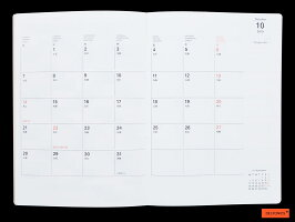 【ダイアリー手帳】DELFONICSデルフォニックスB6リネン100056(20BF)5色2019年10月はじまり2020年12月版