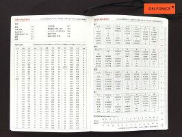 【ダイアリー手帳】DELFONICSデルフォニックスA5ストライプ190051全3色2018年10月はじまり2019年12月版