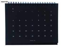 【ダイアリー手帳】HIGHTIDEハイタイド卓上カレンダー2021年1月始まり2021年12月2021年版スクラッチデスクカレンダーレインボーNH003