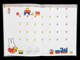 【ダイアリー手帳】SquareスクエアMiffyミッフィーダイアリー手帳A5マンスリーBD-52019年10月はじまり2020年12月版