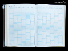 【ダイアリー手帳】MARK'Sマークスダイアリー手帳B6マンスリージオメトリック・パターン2018年9月はじまり2020年1月版