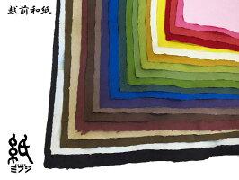 【越前和紙】強制紙(手漉き)青NO8