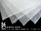 【和紙】美濃和紙(手漉き) 落水紙静海波(大)うず巻き(小)花麻 七宝 菊唐草