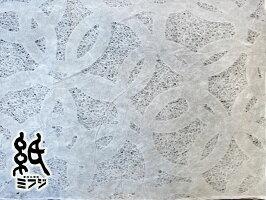 【美濃和紙】美濃和紙(手漉き)落水紙1枚〜全3種類丸紋/青海波(小)/うず巻き(大)晒