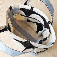 ドット柄帆布のトートバッグ(フタ+肩紐+車椅子ベルト付)SSサイズアイスブルーMadeinJapan