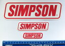 SIMPSON (シンプソン) USA 純正 ロゴステッカー 3枚セット 並...