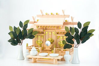 Roof difference 三社特小 profit household Shinto altar set (household Shinto altar God tool)