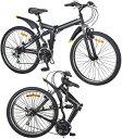 フルペンション搭載26インチ折り畳み自転車 MTBタイヤWサ...