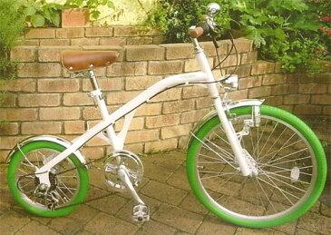 前輪24インチ自転車×後輪16インチ自転車シマノ製6段変速ギア カラータイヤニュークラシックサイクル砲弾ライト&ボールベルダルマ型の自転車ベージュ ホワイト ライトグリーンオリーブ レッド ブラックダルマ型の自転車 オーディナリーサイクル