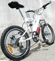 ミニベロマウンテンバイク20インチ自転車小径車ブラックホワイトシマノ製6段変速ギアボトルゲージ付き取り外し調整可能バーエンドハンドルダブルサスペンション&前後輪ディスクブレーキ採用BMXマウンテンバイクタウンユースライン
