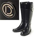 Christian Dior クリスチャンディオール レイニーブーツDプレート ブラック 長靴 ラバーブ...