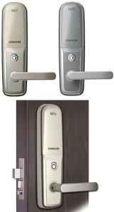 Samsung Ezonサムソン イジオンデジタルドアロック二重電子ロック 取っ手付き玄関錠暗証番号...