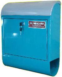 郵便ポスト スチール製メールボックス鍵付きの郵便受けMERCURY MAIL BOX C062マーキュリーレッド ホワイト シルバー オレンジ ネイビーグリーン ブラウン ブラック グレーブルー×シルバー