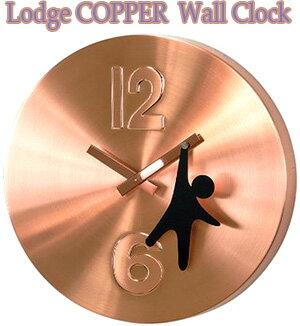 オシャレなお部屋には存在感のある掛け時計をブラウンブロンズ×ブラック スイングストラップデザインクロック ラウンドウォールクロックアーバンテイスト掛時計人が指針にぶら下がったデザイン12×6コンベックスインテックス