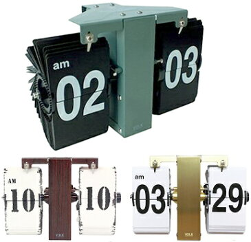 ミニッツパタパタクロックホワイト ブラック オリーブグリーン ウッドブラウン ゴールド日めくりカレンダーを1分毎にめくる様な感じの機械式アナログ時計めくれる瞬間の音がたまりませんデスククロック 置き時計壁掛け用フック付 ウォールクロック