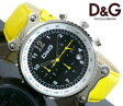 ドルチェ&ガッバーナ ウォッチ リズムD&G WATCH RHYTHM DW0307クロノグラフ仕様 腕時計 アナログイエローレザーバンドとイエローの秒針のコラボケース上下のバンド止めのシルバー金具形状がワンポイント