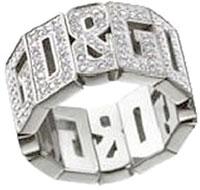 D&G リング ジュエリーシルバーリング ラインストーンD&GロゴラインJewelry Ring DJ0533 約12号 約13号 約14号 DJ0534 約14号 約15号 約16号DOLCE&GABBANA 指輪 ドルチェ&ガッバーナ ドルガバ指元のアクセントに