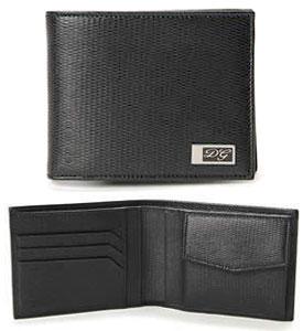 ドルチェ&ガッバーナ 財布DOLCE&GABBANA ドルガバメンズ 小銭入れ付き二つ折り財布 型押しブラック DGプリントロゴプレート2つ折り財布 札入れ ウォレット サイフ さいふD&G 80999BK ディー&ジー