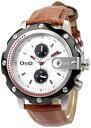 DOLCE&GABBANA D&G 腕時計ドルガバ メンズアナログウォッチ シーンドルチェ&ガッバーナシルバーホワイト文字盤×型押しブラウンレザークロノグラフ DW0365SLBRディー&ジー アクセサリー