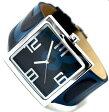 DOLCE&GABBANAドルチェ&ガッバーナアナログ 腕時計 アンディーD&G TIME watch ANDY DW0037SLBLブラックレザー×ブルーロゴベルトドルガバ ディー&ジー男女兼用 メンズ レディース