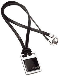 ドルチェ&ガッバーナDOLCE&GABBANAペンダントネックレスブラック×シルバープレートD&G ロゴプレート ファション アクセサリー シンプル レザーチョーカードルガバ DJ0430Jewelry