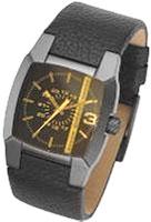 ディーゼル腕時計DIESELDZ1186アナログウォッチブラックレザーベルトディーゼルロゴ入りライン5気圧防水メンズ